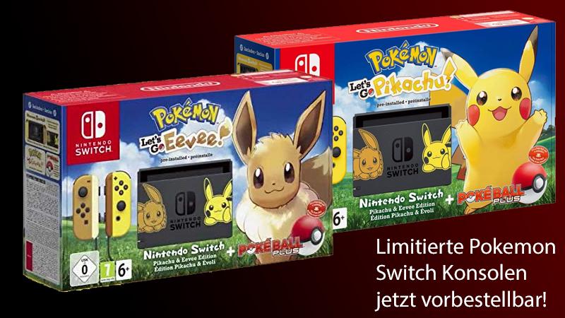 Jetzt Vorbestellen Nintendo Switch Konsole Pokemon Let S Go