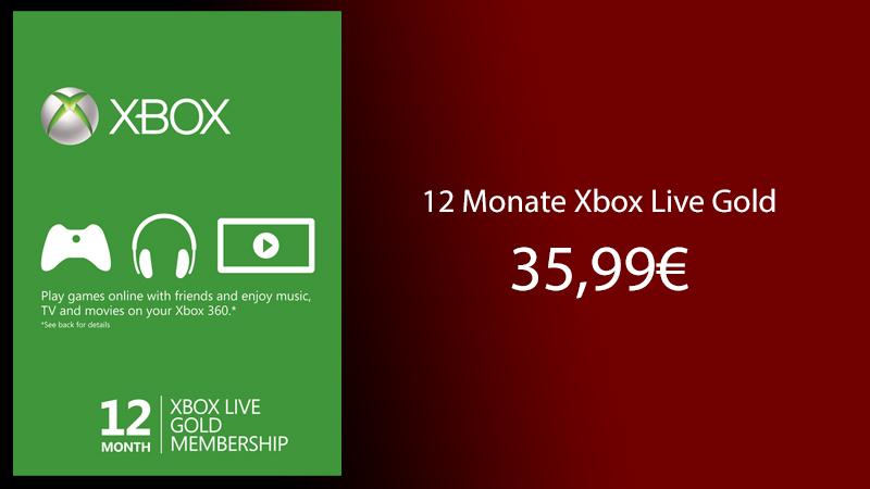 Sichert Euch Heute 12 Monate Xbox Live Gold Zum Preis Von 35